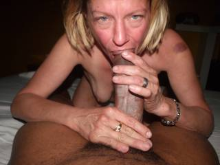 MORE OF MY FRIENDS WORSHIPING MY BLACK COCK. HARD TO BELIEVE THAT SHE HAS LIVED 51YRS WITHOUT ENJOYING THE PLEASURES OF BBC. SHE IS A NATURAL. I HAVE SINCE ALLOWED SOME OF MY BLACK FRIENDS TO BREED HER. PLEASE DON'T TELL MY BUDDY I'VE TURNED HIS I