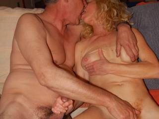 Very nice , I love fingering a luscious pussy while having my cock fondled.
