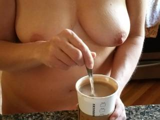 after morning sex...need some caffeine
