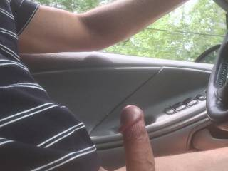 I love to ride down the hwy just like that and stroke my cock until it shoots cum. Very nice!!