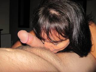 I love licking his balls and kissing his thick shaft before taking him in my mouth.