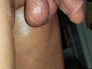Came in from sunning Showing my summer dick and balls.