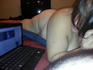 wife sucking me on zoig chat. same session as before. Comments make her hot folks.