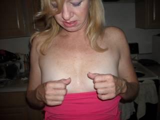 PINCHING HER NIPS