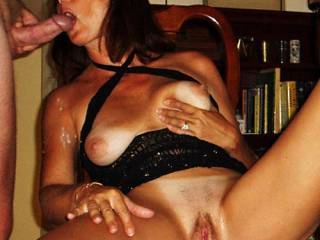 Al loads Candi Annie with more than she can swallow!  An amazing scene as she spreads her legs wide revealing her well used pussy as a river of cum flows from her mouth!