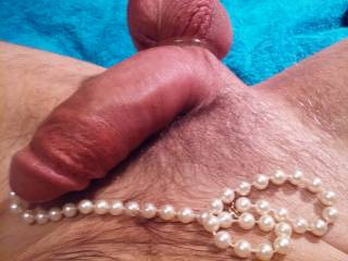 Stuffing pearls into my cock!