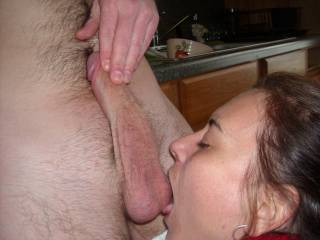 wife enjoys licking my balls