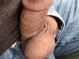 Hard in the car. Any of the sexy ladies on here want to go for a ride?