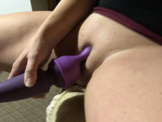Wife's playing with her new toy. Who wishes they were the toy?