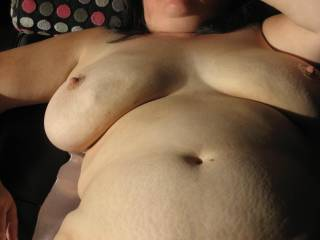 GORGEOUS, soft, sexy, comfortable body! My dick is harder than diamonds right now!