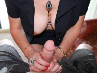 I do like too, the nails, jewelry... Got that whole finished look.... Except that cock.... Looks like you need to work it! ;)