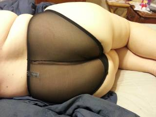 love how it curves over the panties yummm