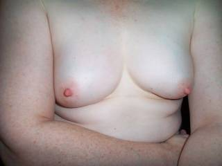 I don't care if your 50 or 15 they are a sensational set of tits. I'd like to make them better with a big personally delivered load of cock juice spurt all over them.