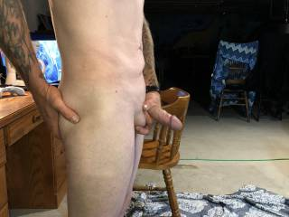 Who wants to help me play with my thick shaved cock?