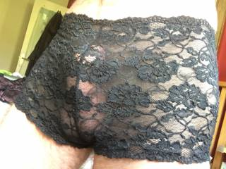 Playing in my wife's lingerie x