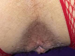 Close up of her used asshole. The tightest!