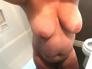 she loves her big tits being seen...has anyone thought about fucking them