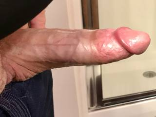 Stretched out big and thick ready for attention!