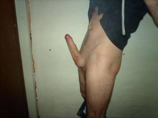 my fellas big hard cock i love it any ladies want to try it lol xxxxx