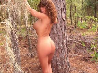 Runnin around naked in the woods