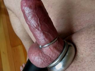 I like to go with 2-3 around the base of my cock and as many as I can around my balls to stretch them down