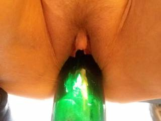 My moongoddess with a wine bottle deep fucking her hot pussy, shes to naughty hot and has such a wicked apatite fir sex, I\'m one lucky man!!