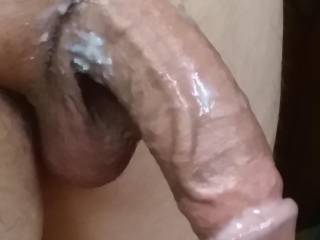 I'm sure this is both  of our cum dripping off this dick