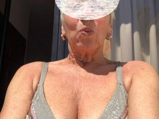 Kisses to you, while having some tan first day. Maggy