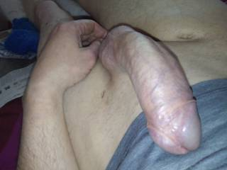 My cock is constantly like this, missus doesn\'t touch it much nowadays,, looking for some help to release some hot cum, anyone?