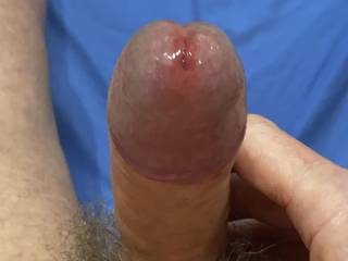 Step Four - Reveal your full engorged glans, ready to fuck.