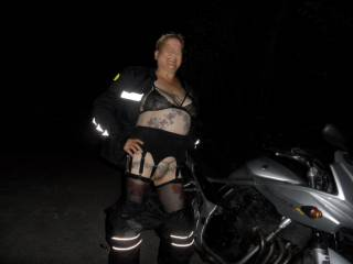 hi all hubby popped out to get some parts for the car, imagine how shocked I was when he came home with a motorcycle. however it is another angle for some new pictures when he takes me for a ride!!!!! dirty comments welcome mature couple
