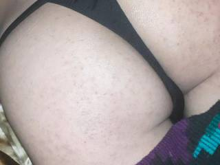 my ex-girlfriend\'s panties playing with them