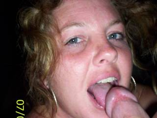 I'll be he is happy, too.  A sexy and cute woman who loves to suck and kiss cock adds to the sheer pleasure of it.  I fantasize it is my cock in her happy mouth.