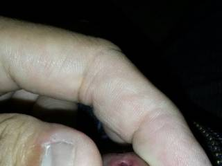 Awesome, love to put my tongue in there and suck the pre-cum.