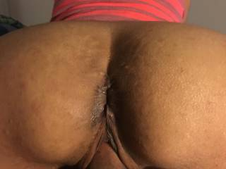 Great view of Andrea's beautiful asshole as she rides me 👅
