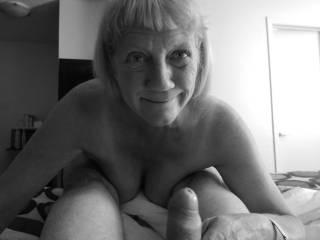 Johanne happy to suck my cock!