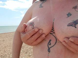 This is the only bikini top that Sally enjoys wearing! In fact it is the only one that she has.