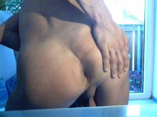 my ass for you, and I open a little my shaved cleft
