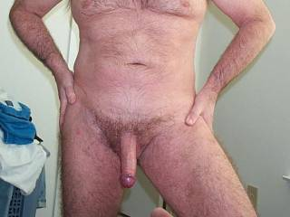 Fine-looking body and cock you have there, mate, very hot and sexy, look great in the nude!