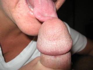 Licking just the head can get him off