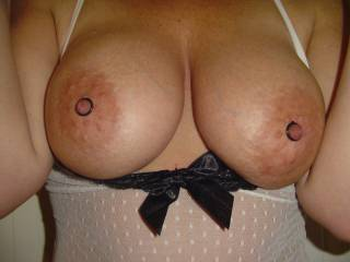Beautiful tits ... love to get my lips and tongue all over them xx