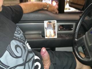Lost a truth or dare bet she made me drive thur taco B with my cock out and hard, It was SO Hot I really got a kick out of it,,,