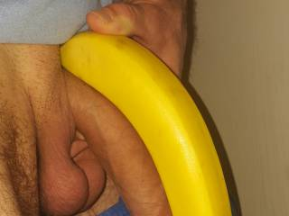 I love both...I'll eat the banana and suck that cock...I'll enjoy the both of them.  I might even put on a show for you sucking and fucking that sweet banana. I'd love to swallow your cock.   MILF K