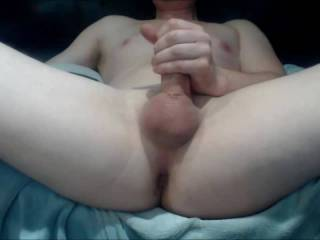 Fuck my ass with a glass dildo until it cum all over my hand