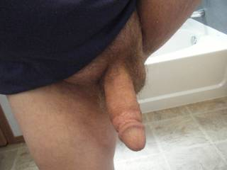 Cock shoot before and after shave and shower