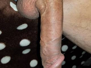 Soft cock hanging