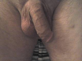 Another pic of his soft, tired dick and big balls dosing off.