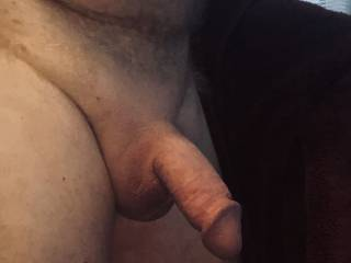 Shaved cock and balls.