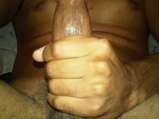 jerking my hard cock