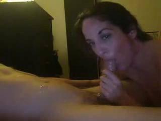 A nice webcam blowjob with a cum final